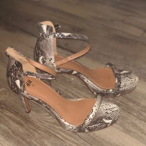Shoes - Snakeskin H&M Heels
